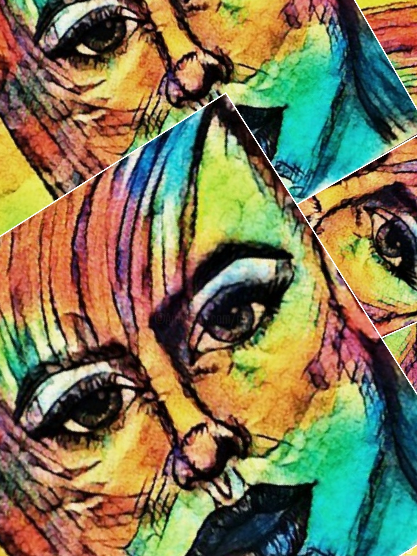 Agl - Femme multicolore