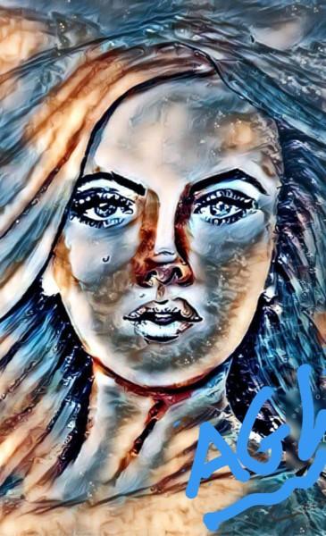 visage star bleu