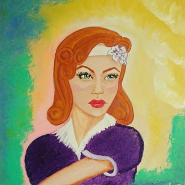 vintage femme rousse
