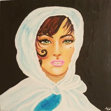 femme brun voilé