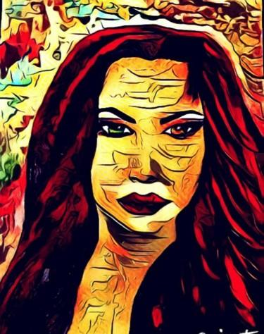 femme sauvage au cheveux rouge